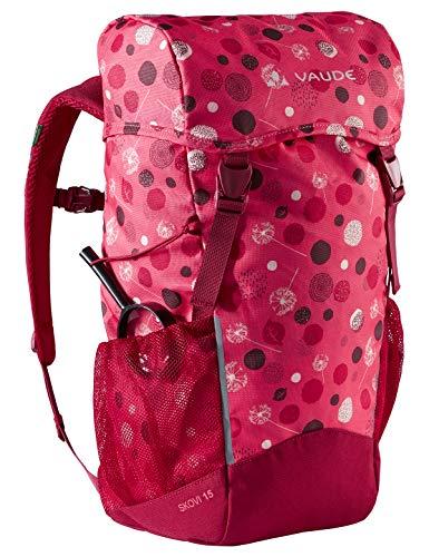 VAUDE 15479 Unisex - Adulto Zaini 15-19L, Bright Pink/Cranberry, 15 Litri
