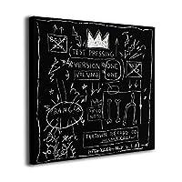 Joycego バスキア 印象派 アートパネル アートフレーム キャンバス印刷 インテリア モダン 壁掛け 30cm*30cm