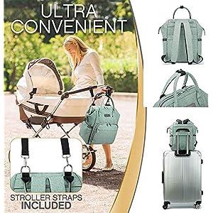 51Ac6WpYOjL. SS300  - Viedouce Mochilas para Pañales Biberones,Bolso del Bebé Mamá,Impermeable con Estilo Oxford Bolso Pañal de Gran Capacidad…