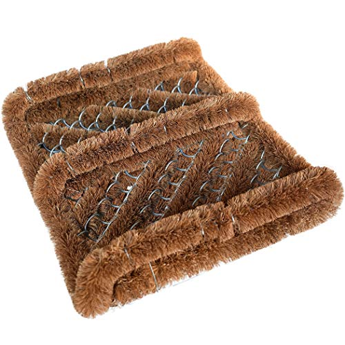 Ninamar Natural Coir Boot Scraper Door Mat - 12 x 13 inch