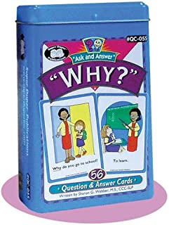 """Super Duper Publications Ask and Answer """"Why?"""" Questions Card Deck Educational Learning Resource for Children"""