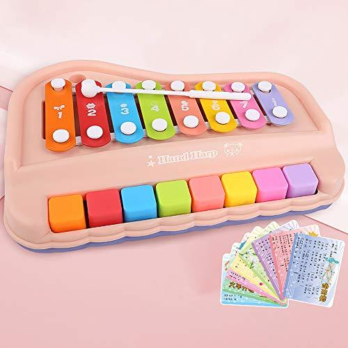 SSZZ Frühes Pädagogisches Lernen Musikinstrument Kinder Musikspielzeug Klavier Anfänger Mini Xylophon Geschenk,B,M