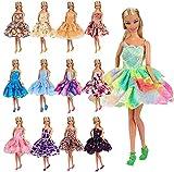 Miunana 5X Vestidos de Noche Mini Vestido Corto Ropa Casual Vestir Fiesta como Regalo para 11.5 Pulgadas Muñeca Estilo al Azar