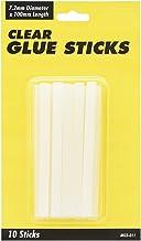 UHU Glue Clear Hot Melt Sticks 7.2mm, Card of 10 Sticks, (85-010101)