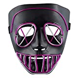 LED Light Up Mask Full Face Scary Flashing Mask for Halloween Party Costumes Party Carnival Festivals Big Eyes