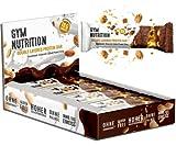 HIGH Protein Riegel- Low Carb Protein Riegel mit hohem Proteingehalt - ohne Palmöl - Glutenfrei - unglaublich lecker - Made in Germany (Chocolate Salted Peanut Crisp, 12er Box)