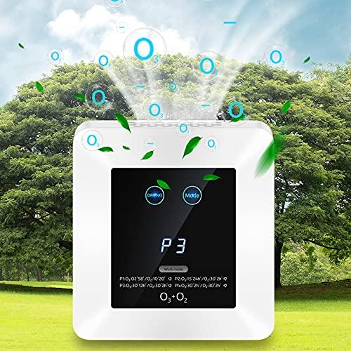 Purificador de Aire Hogar con Filtro HEPA y Carbón Activado,Eliminar 99,97% Alergias,Polen,Coche Olor,Ozonizador de Aire con Temporizador,CADR hasta 500m³/h,para Mascotas,Auto,Baños etc