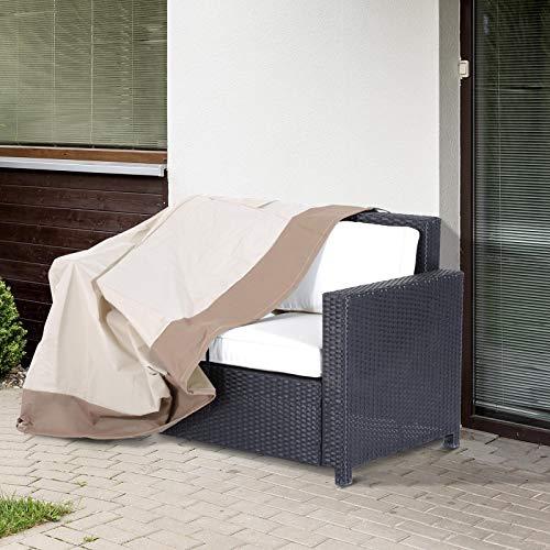 Outsunny Funda Protectora para Banco 2-3 Plaza Cubierta de Muebles Impermeable Exterior Jardín Protección contra Lluvia y Sol 152x87x59/79cm 600D Tela Oxford