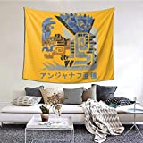 Monster Hunter Rise Game Tapestry Wall Hanging Fashion Home Decoration For Living Room Bedroom Dorm Decor (60x51 Inches) (Monster Hunter Rise3, 60*51)