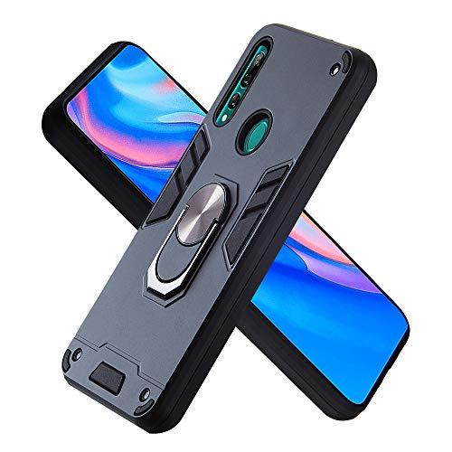 Hülle für Huawei Y9 Prime(2019) mit Standfunktion, PC + TPU Rüstung Defender Ganzkörperschutz Hard Bumper Silikon Handyhülle stossfest Schutzhülle Case (Schwarz)