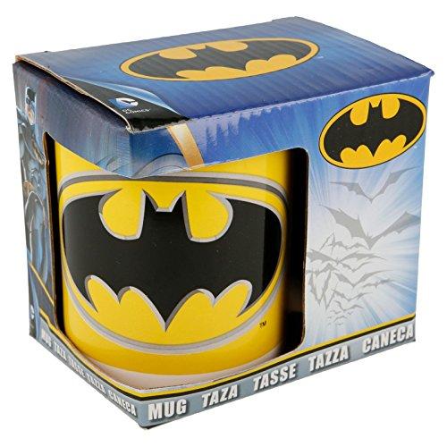 ALMACENESADAN 2262; Taza cerámica Batman, Apta para microondas y lavajillas, Capacidad 350 ml