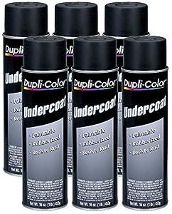 Dupli-Color UC101 Paintable Rubberized Undercoat (16 oz) - 6 Pack