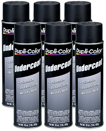 Dupli-Color UC101 Paintable Rubberized Undercoat (16 oz) - 6 Pack