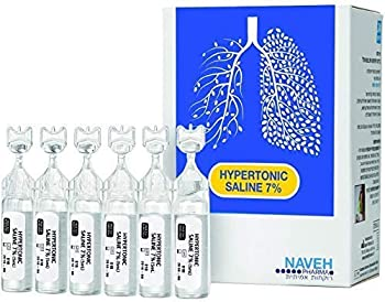 RSV Hypertonic Saline Solution 7% - Nebulizer diluent for inhalators and nasal hygiene devices Helps Clear Congestion from Airways and Lungs – Reduce Mucus  25 Sterile Saline Bullets of 5ml