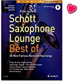 Schott Saxophone Lounge Best of 20 Most Famous Rock and Pop Songs - Libro de partituras de Dirko Juchem con audio en línea y pinza para partituras