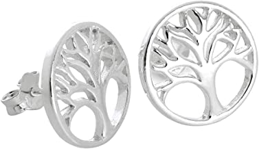 LeCalla Sterling Silver Jewelry Tree Of Life Earring Pendant for Women