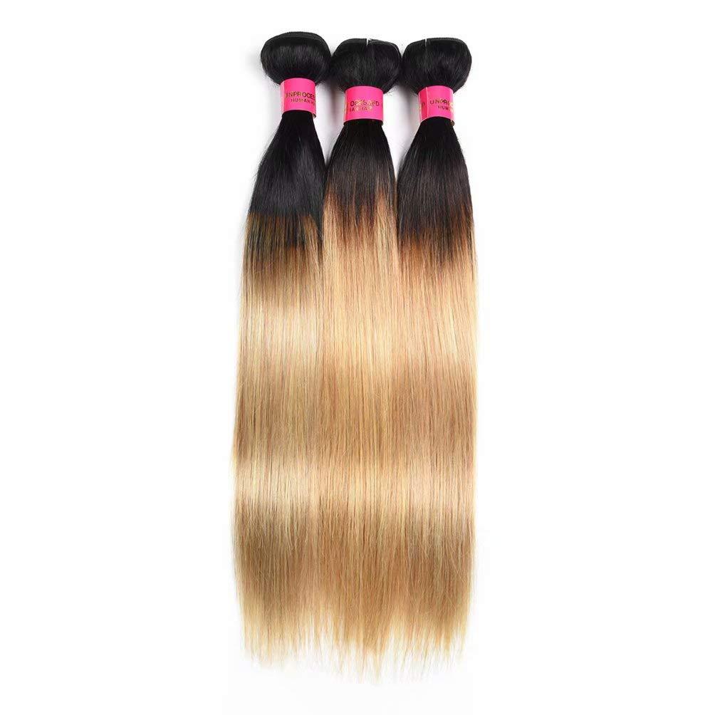 Tulsa Mall WOME Ombre Blonde Human Hair Silky Bundles Vir Straight Peruvian OFFicial site