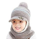 Uniyoung - Gorro de invierno cálido para bebé, bufanda para niños y niñas...