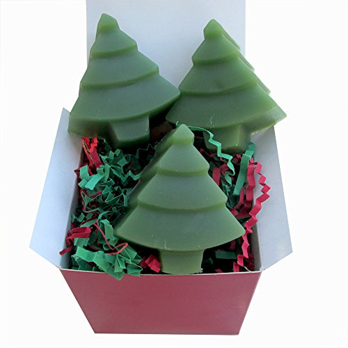 Natural Glycerin Soap - Little Christmas Trees - 4 oz - Ships FREE!