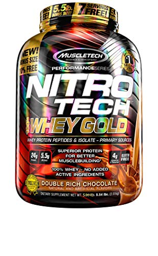 Muscletech Performance Series Nitro Tech 100% Whey Gold (5,5lbs) 2508 g ✅