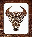 Tribal Bull-Schablone – wiederverwendbare Kuh-Tattoo Bullkopf Schablone – Verwendung auf...