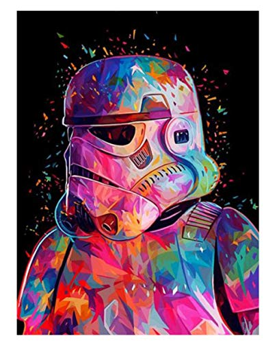 YSLTTY Pintura Digital De Bricolaje Asalto De Star Wars por Números Pintura De Imagen De Arte De Pared para Decoración del Hogar ZK3221E Sin Marco 40cmx50cm