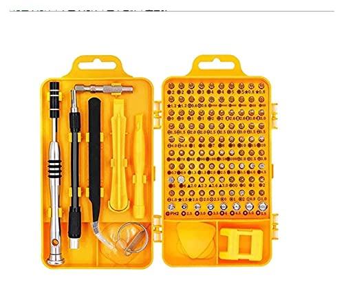 JUSTCHUN 112 en 1 Destornillador Conjunto de bits de bits de bits de Tornillo Dispositivo de reparación de teléfonos móviles de precisión multifunción Herramientas de Mano Piezas de Herramientas