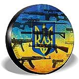 XZfly Coperture per Pneumatici di Ricambio Bandiera Ucraina, Protezioni universali per Pneumatici, Accessori da Viaggio per Auto Resistenti alle intemperie