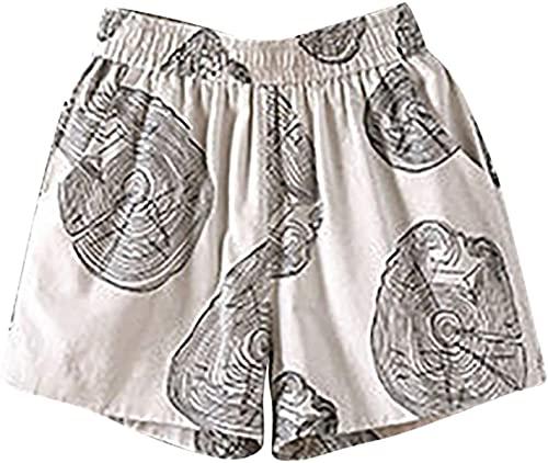 Ourjsncvns Plus Size Loose Shorts for Women Summer Beach Casual Shorts Elastic Waist Wide Leg Fit Lounge Short Pants