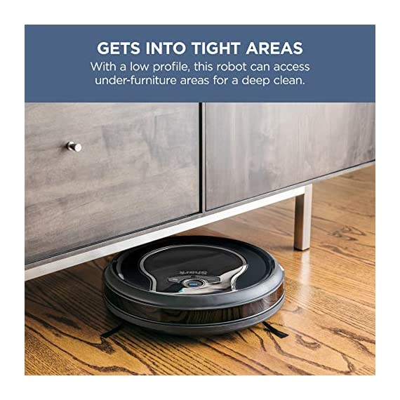 Shark ion with wi-fi robot vacuum qt 7 three brush types. One powerful clean: tri-brush system combines side brushes, channel brushes, and a multi-surface brushroll to handle all debris on all surfaces. Completely integrated in your home: shark ion robot senses ledges and stairs, avoids damaging furniture and walls, and maneuvers around potential stuck situations, truly knowing your home. Clean from your phone: sharkclean app lets you start and stop cleaning and schedule your robot to clean whenever you want.