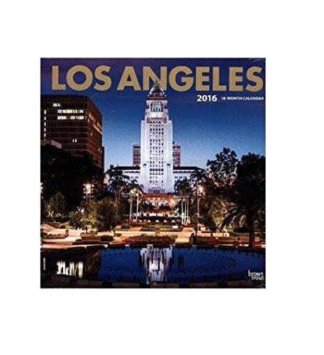 Los Angeles 2016 - 18-Monatskalender mit freier TravelDays-App: Original BrownTrout-Kalender [Mehrsp