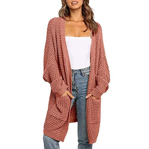 Las mujeres de manga larga murciélago Boho Casual Crochet de gran tamaño suéter de punto de la capa