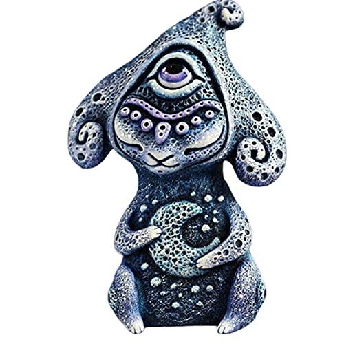 FASW Criaturas artesanais de um mundo de fantasia estranho estátua de resina ornamento estátua de jardim, ornamento de resina estátua de jardim