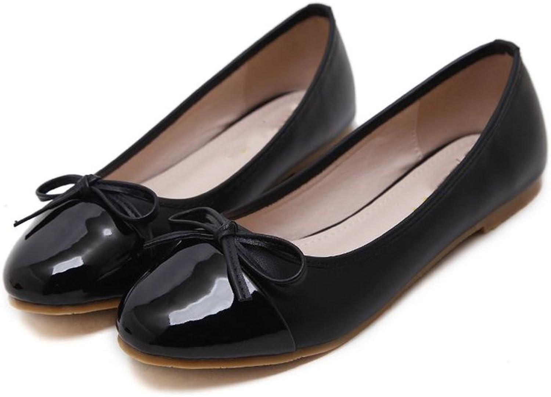 CHENSF Women's Slip On Ballet Flats Ballerina Comfort Bowknot Working Dance shoes