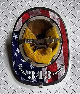 Fire Helmet Wraps Diamond Plate 343 Never Forget Memorial (Cairns 1044)