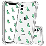 YESPURE Cute iPhone 11 Case Dinosaur, Cute Dinosaur Design TPU [Shock Absorbing] Soft Bumper Protective Case Cover for Apple iPhone 11 6.1' - Cute Dinosaur 04#