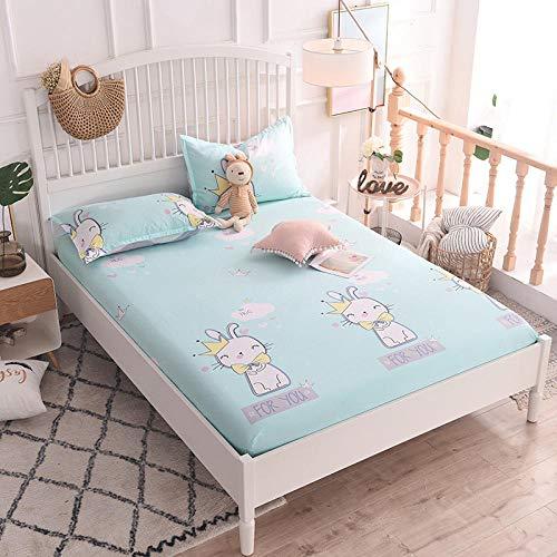 HPPSLT Protector de colchón/Cubre colchón Acolchado, Ajustable y antiácaros. Algodón Antideslizante de una Sola Pieza -6_1.8 * 2.2m