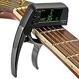 Accordeur de guitare Capo, accordeur de guitare électrique 2 en 1 avec...