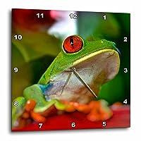 3Dローズレッドアイツリーフロッグリーフ壁掛け時計 13インチ x 13インチ