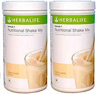 Herbalife Formula 1 Nutritional Shake Mix, 500g French Vanilla, Pack of 2 (DHL Shipping)