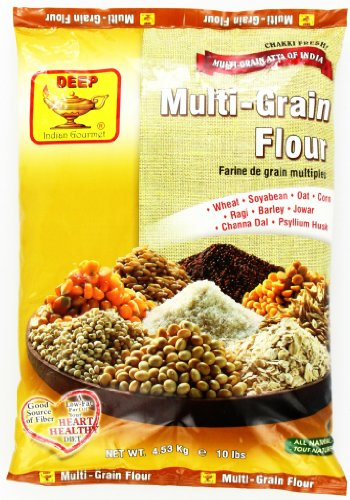 Indian Gourmet, Deep All Natural Multi-Grain Flour, 10 lbs.