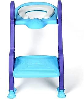 Anoak T/öpfchentrainer Kinder,Toilettensitz mit Leiter T/öpfchen f/ür Kinder Baby Potty Training Treppe,Rutschfest stabil klappbar h/öhenverstellbar f/ür 1-7 j/ährige 2019 Upgraded Version