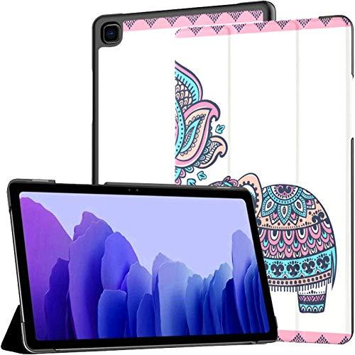 Ornamento gráfico Elefante Samsung Galaxy Tab A Funda Galaxy Tab A7 10,4 Pulgadas Galaxy Tab A7 Funda Galaxy Tab A7 Funda con activación automática/Reposo Fundas para Tableta para Galaxy Tab A7 SM-