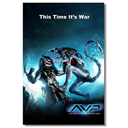 chtshjdtb Alien Vs Predator Poster Aliens lienzo pintura póster impresiones lienzo cuadro de pared para la decoración de la habitación del hogar-20X28 pulgadas sin marco 1 Uds