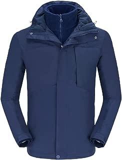 Men's Mountain Ski Jacket 3 in 1 Waterproof Winter Jacket Warm Snow Jacket Hooded Rain Coat Windproof Winter Coat