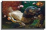 Home Decor Print Oil Painting on Canvas Wall Art, Modern Art Victor Nizovtsev Mermaid (24x36inch,Framed)