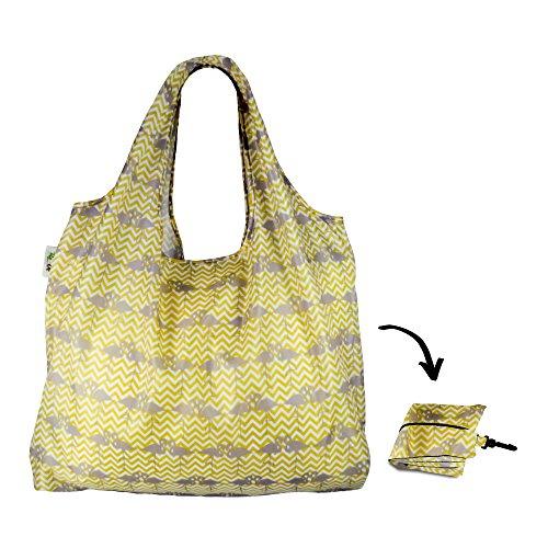 Re-Uz Lifestyle Shopper XL - pieghevole grande borse della spesa riutilizzabili - Flamingo Mustard