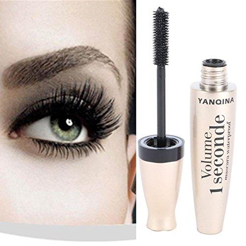 ROPALIA 3D Faser Wimperntusche Lange Schwarze Lash Wimpernverlängerung Wasserdichte Augen Make-up