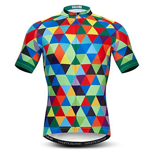 Men's Cycling Jersey Short Sleeve Road Bike Biking Shirt Top Bicycle Cycle Clothes Green Size XL