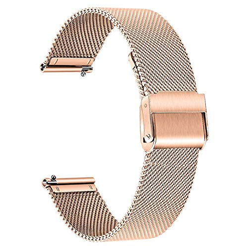 TRUMiRR Banda Compatible con Huawei Watch GT 2 42mm/Honor MagicWatch 2 42 mm Correa, 20mm Correa de Reloj de Malla de Acero Inoxidable Correa de liberación rápida para Huawei Watch GT2 42mm